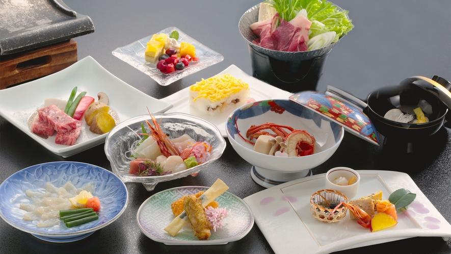 夕食:源氏物語コース