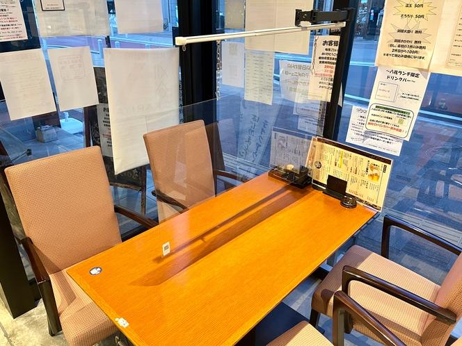 朝食会場 テーブル席