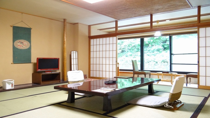 山側客室で宝川は見えませんがお得なプランです♪
