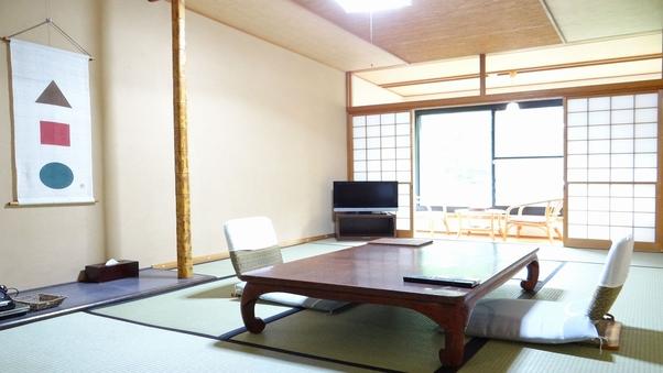 【禁煙】温泉給湯B/T付東館川側12畳客室「レストラン食」