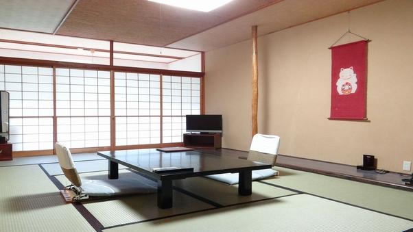 【禁煙】温泉給湯B/T付東館川側8畳間客室「レストラン食」