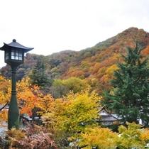 【外観】紅葉の宝川温泉