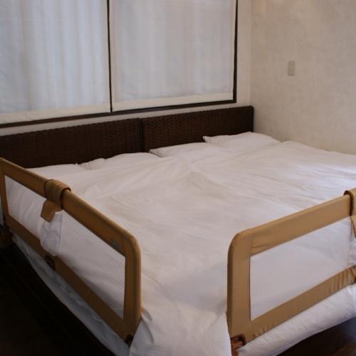 【ミキハウス子育て総研(株)認定】   ★ウェルカムベビーのお宿 ベッドガードの貸し出ししています!