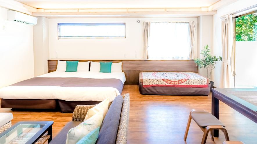 ・広々としたベッドスペース【ビセテラススイート50平米】