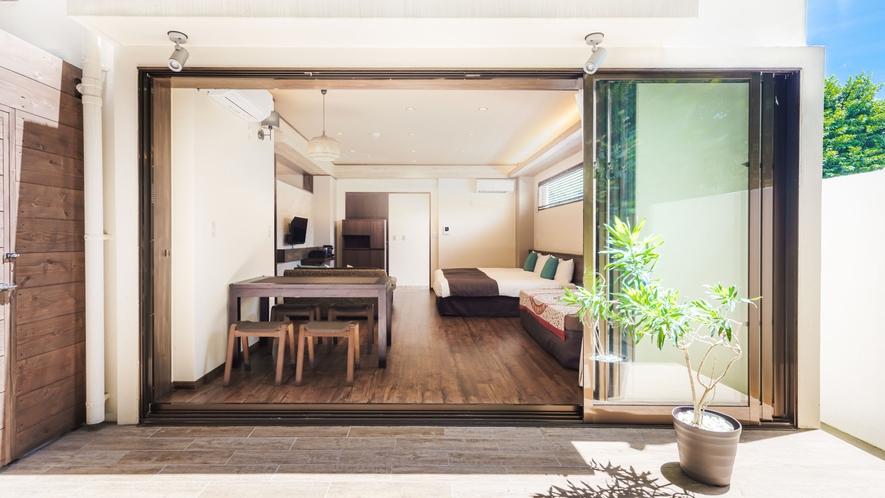 ・コンドミニアムのビセテラススイートで贅沢な空間【ビセテラススイート50平米】