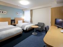 ◆ツインスタンダード◆広さ23平米◆ベッド幅123cm×2台◆