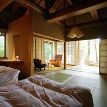 露天風呂付き離れ「刈田岳」
