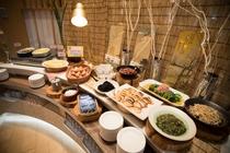 朝食ビュッフェ(千葉県内を中心にした食材です)