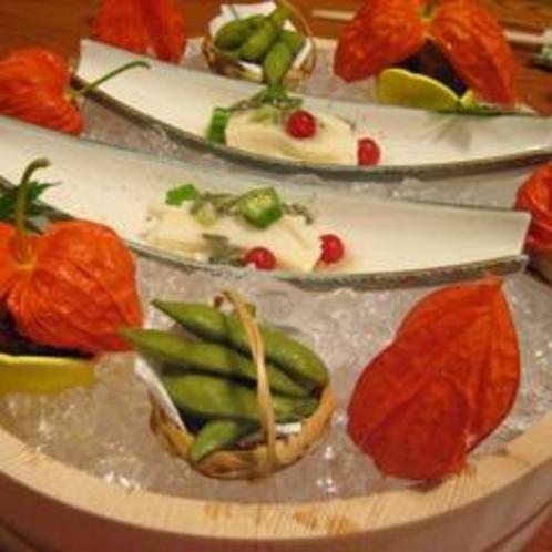 旬菜会席:夏の前菜(例)