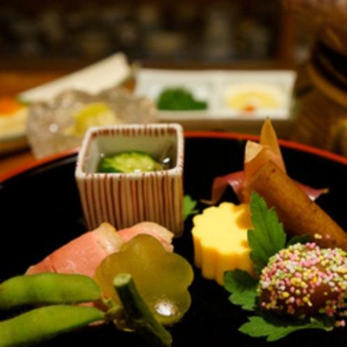 旬菜会席料理:春の前菜(例)
