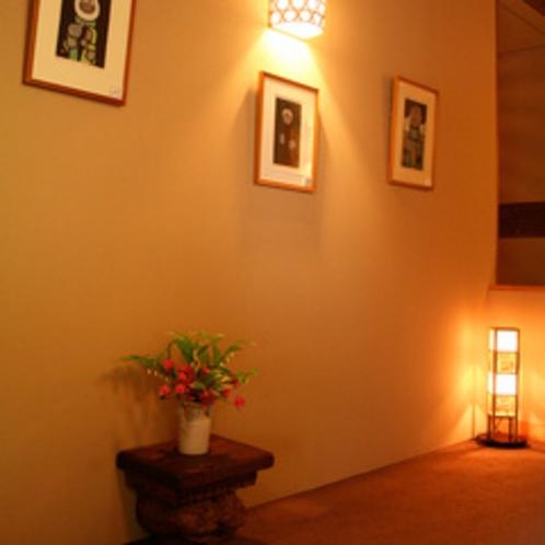 館内廊下。