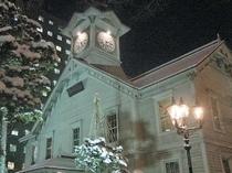 『さっぽろ時計台(冬)』:徒歩10分