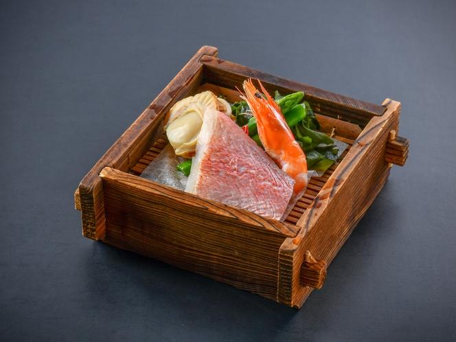 【海鮮せいろ蒸し】厳選された新鮮な魚介や旬の野菜を特製のせいろで蒸してご堪能ください♪