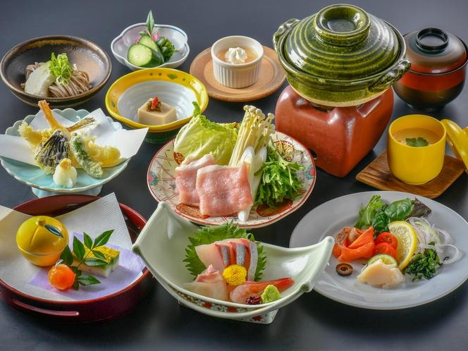 【十人十色会席】お刺身や天麩羅などの会席料理のほか、さらにメイン料理をお選びいただけるプランです♪