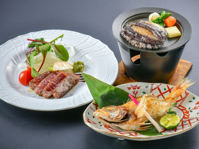 【気まぐれ会席】総料理長がその日に仕入れた旬の食材を一品ずつ丁寧に仕上げます(春夏のイメージ)