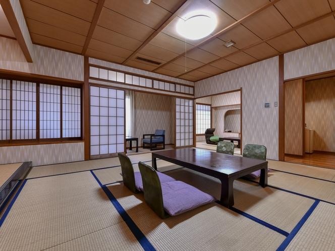 【泰平】家族や仲間で広々と使える和室12.5畳+6畳