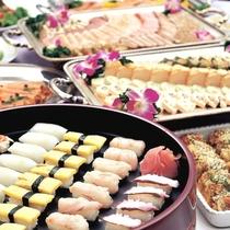 ◆お寿司・揚げたて天ぷらもあります☆ *夕食バイキングイメージ