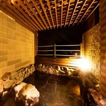 ◆温泉露天風呂・夜