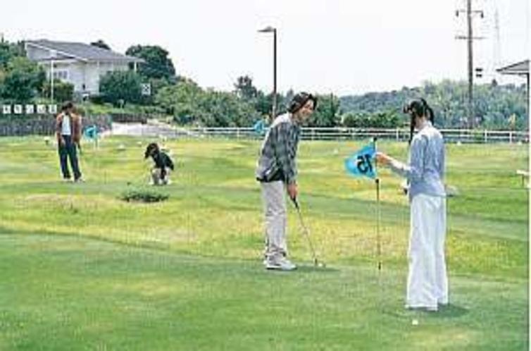 本格芝のパターゴルフは9ホールある(不定休)