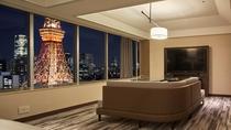パノラミックジュニアスイートタイプの東京タワー側ルーム