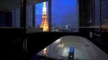 1フロアに1室の東京タワービューバスルーム(イメージ)