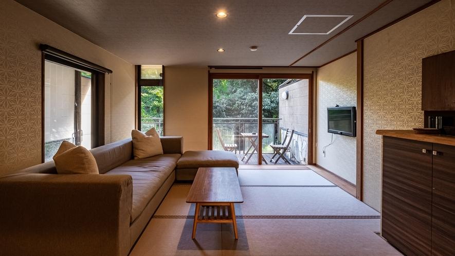 【Cタイプ:紫陽花】白雲荘の魅力であるプライベート感や客室の露天風呂、優雅な和室をお気軽に。