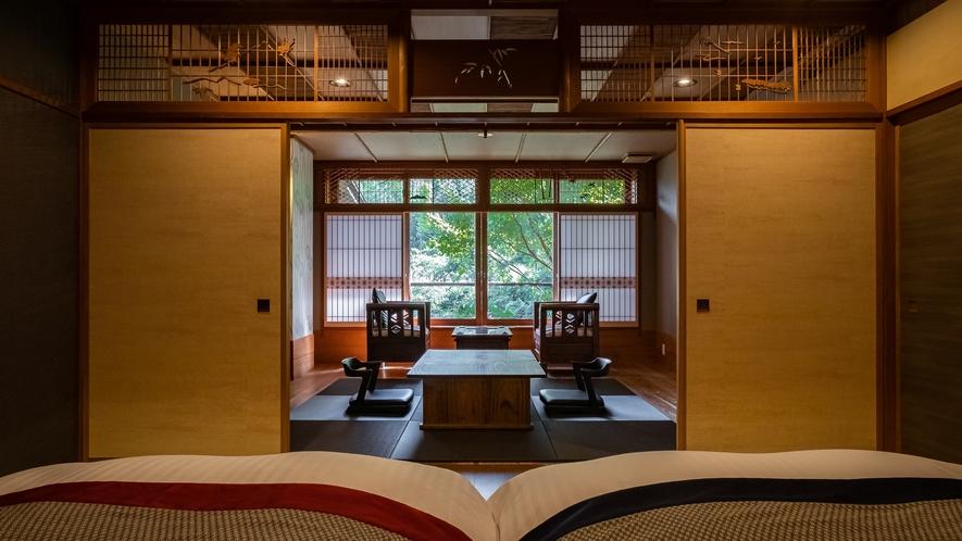 【Eタイプ:独歩】日本建築の静謐な趣を感じる和室です。