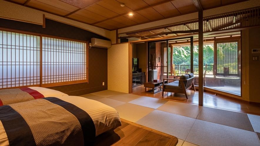 【Gタイプ:漱石】白雲荘で最もグレードの高い離れのお部屋。至福の時間を大切な方とともに。