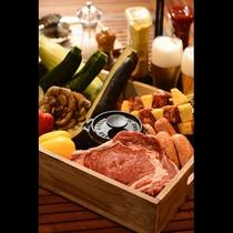 グランピング夕食イメージ