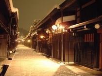 夜の古い町並 【冬】