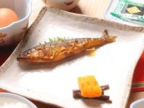 朝食の名物・アユの甘露煮をご賞味ください。若旦那特製の深い味わい。ごはんがすすみます(^^