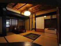 囲炉裏のある個室です♪このお部屋でごゆっくり、【一日一組限定】ゆるり会席をぜひ