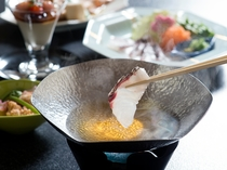 春野菜と鯛のしゃぶしゃぶ