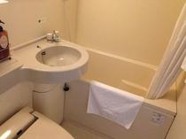 客室浴室は、ユニットバスになります