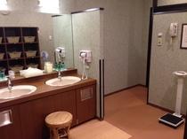 1階旅人の湯 男性浴場パウダールーム