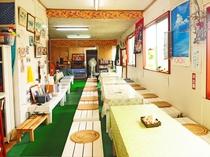 【食堂】南国感溢れる雰囲気の食堂