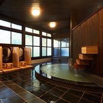 こじんまりとしながらもお湯はピカイチ。日本屈指の湯量を誇る『強酸性硫黄泉』です