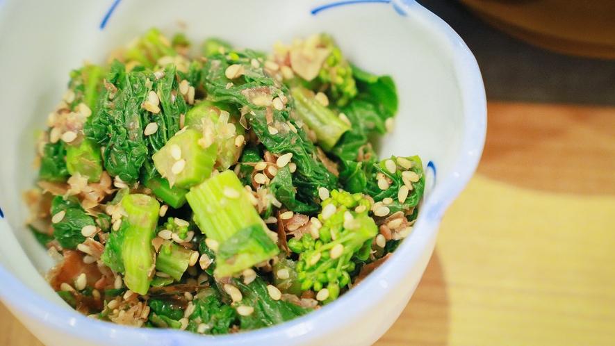 地産野菜の持ち味を生かしたお料理がお客様をお迎えします