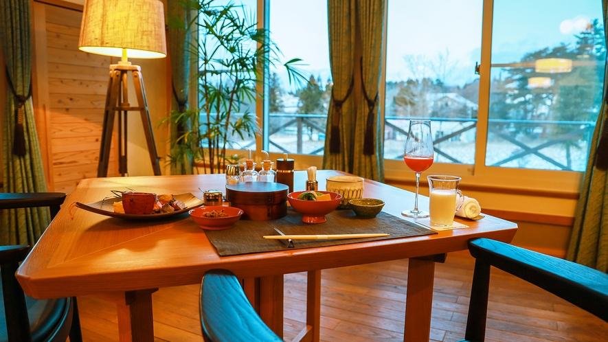 季節の風景と楽しむお料理はまるで自分が物語の中にいるかのよう