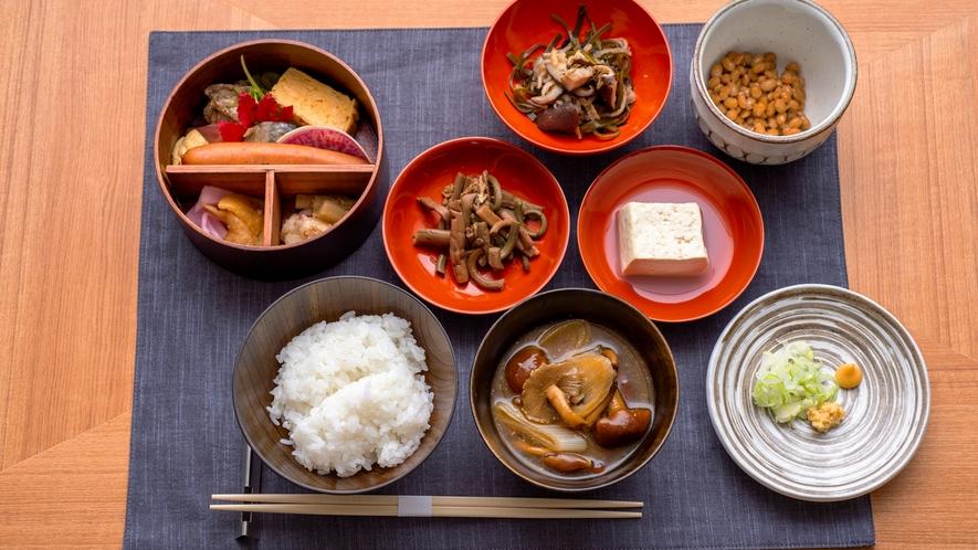 大地の恵みを詰め込んだお料理。優しい味わいが体に染みわたります