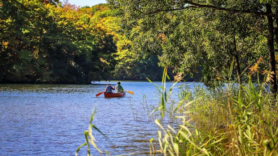【猪苗代湖】ボートで湖を探索。四季折々に表情を変える自然を間近で感じられます
