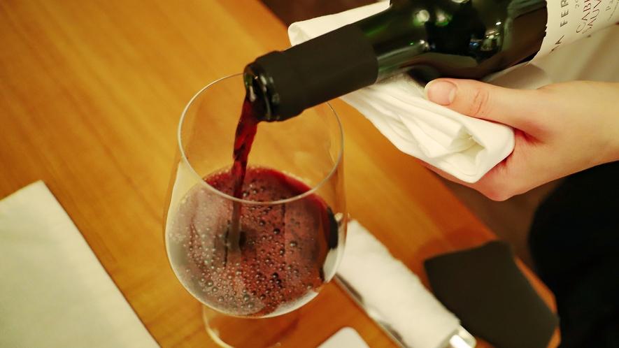 【ラウンジ】当館こだわりのワインをお愉しみいただけます