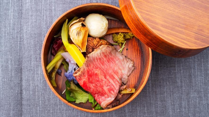 【ご夕食一例】地産食材が持つ味を最大限引き出したメインは心に残る深い味わい