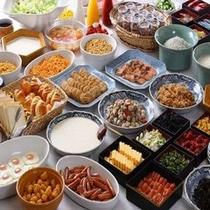 ■30種類以上の和洋朝食バイキング■