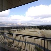 外輪山側客室からの風景(冬)