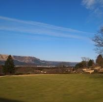 ホテルからの眺め 外輪山!