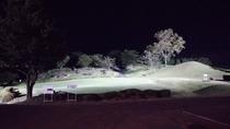 ゴルフ場側の夜の景色。