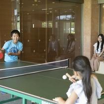 【無料卓球コーナー】1階ロビーフロアにご家族みんなで楽しめる卓球コーナーあり!フロントで受付中