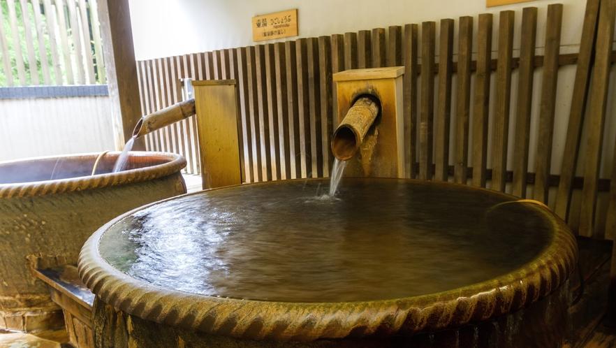 <温泉>露天風呂には壺湯もございます
