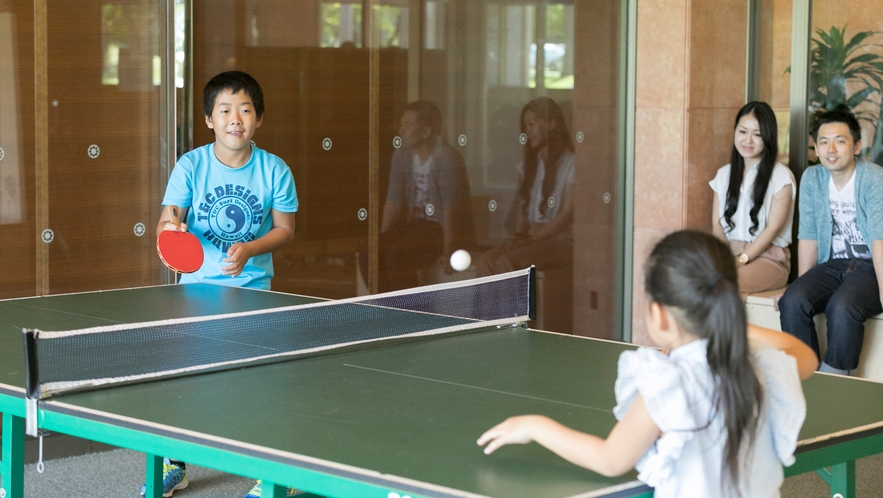 <館内施設>お子様から年配の方どなたでもお楽しみいただける無料の卓球スペース